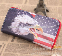 Fancy Printing US Eagle Flag Wallet Purse
