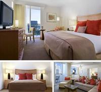 melamine mdf board wooden hotel bedroom furniture