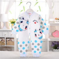 SFL1510171 The New Autumn And Winter Climbing Clothing Infant Warm Jumpsuit Cotton Baby Teddy Sleep Romper Newborn Clothes