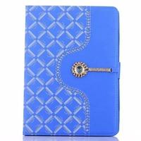 New design Folio Case Cover Stand in Premium PU Leather diamond case for Apple iPad2/3/4 Mini or iPad air/air 2