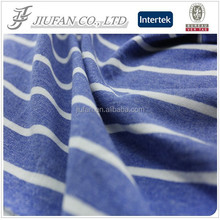 Jiufan Textile 2015 Hot Sale High Quality Polyester Cotton French Terry Fabric Yarn Dyed Fabric For Sweater