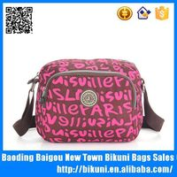 Colorful nylon fashionable small messenger bags lady messenger bags for male