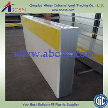 HDPE dasher board for ice rink /HDPE basketball rink fence/plastic sheet with steel support structure