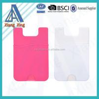 Promotion gift 3M adhesive smart phone pocket rubber phone case card holder wallet