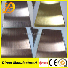 Gold Champagne Colored Stainless Steel sheets