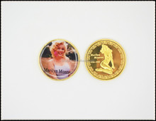 USA sexy Marilyn Monroe coin Forever Hollywood Movie Superstar Gold clad commemorative coin