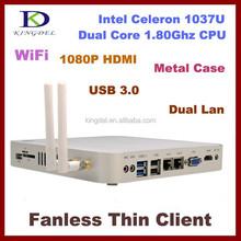 gaming desktops mini pc 4GB RAM,24GB ssd,Intel Celeron 1037U 1.8Ghz,USB 3.0,HDMI ,Metal,SD/TF Card slot