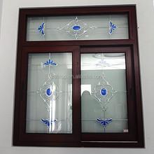 5mm double tempered glass aluminium sliding window