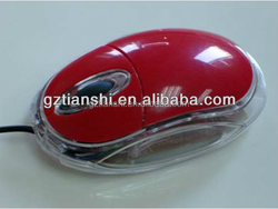 Transparent material oil painting wired mouse