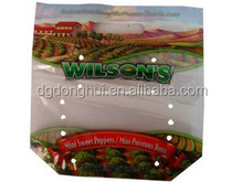 Lamination material zipper top with hole fruit packaging bags