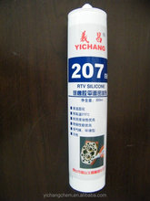 207 white/clear metal flange RTV silicone sealant