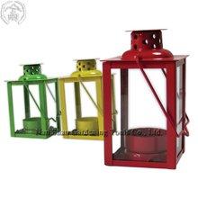 OL0372-ST0 Mini Candle Lantern - Tea Light Candle Holder in powder coated steel