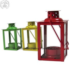 OL0372-ST0 Mini Candle Lantern - Tea Light Candle Holder in powder coated steel