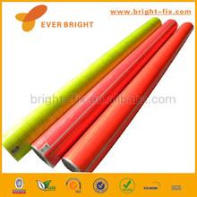Neon colour decorative pvc film with adhesive
