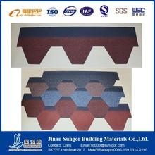 Terra Cotta Round Shape Fiberglass Roofing 5 tab asphalt shingle