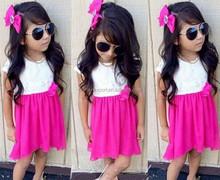 JPSKIRT1505420 2015 wholesale fashion summer hot sale new European white red princess girls sleeveless baby dress