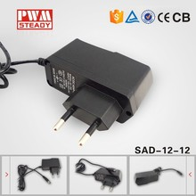 China supplier 12v 1a power supply for Water purifier, LED, CCTV camera, Set-top box, Router, Modem with CE