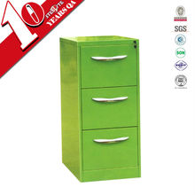 kids bedside glossy colorful 3 drawer closets cabinet/apple green kids drawer cabinet under study desk
