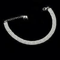 SJ Fashionable New Model SJBB0039 Classic Roman Style 925 Sterling Silver Platinum Plated Shiny AAA Zirconia Tennis Bracelet