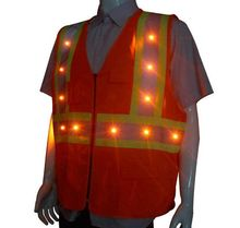 Factory Direct Sale Cheap Price High Quality LED Lighted Safety Mesh Vest, LED Safety Clothing