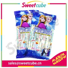 20g long twisted marshmallow candy with jelly jam