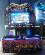3D street fighter shooting amusement simulator game machine