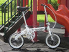 Mini Style Hi-ten Steel Frame Folding Bike Single Speed Folded Bicycle alloy wheel