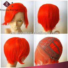 Trade Assurance Heat Resistant Synthetic Short Red Hair cosplay wig