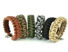 Top stainless steel buckle 550 survival paracord bracelet
