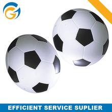 White and Black Football Shaped Gateball Stick Pu Ball