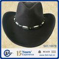 100% lã chapéu/lã de feltro chapéu de cowboy