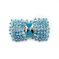 2012 most popular high heel shoe bow diamond clip accessory -WSF-187