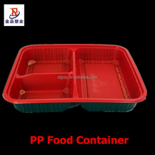 Disposable Red Black Plastic PP lunch box / safe food container