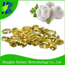 OEM services nature plant extract garlic oil softgel