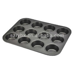 silicone square cake mould pan with 12 cavities FDA standard