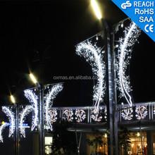 Outdoor street pole lights Holiday decoration christmas 2D led motif lights