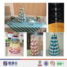 New fashion!!! customised high quality acrylic cake display stand
