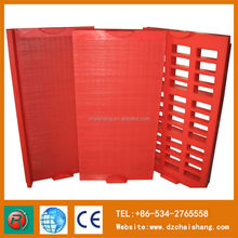 Polyurethane wire mesh screen panel for mining sieve
