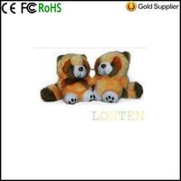 Other Leopard cat figurine Music Box Mini Plush Toy cute Cartoon Sound Mini USB Speaker Computer Universal