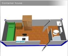 Convenient light steel modular house portable housing