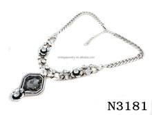 N3181 Charming Big Crystal Pendant Lariat Necklace