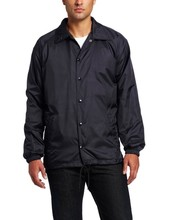 New Design Men's Snap Front Nylon Black Jacket For Men Made In China