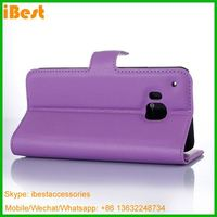 iBest stand wallet leather phone caser for htc one m9, Pu Leather Pouch Case For Htc One M9