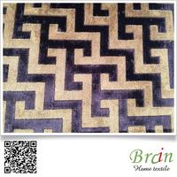 Latest Polyester Jacquard Velvet Upholstery Fabric Corner Sofa Design