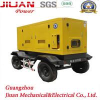 70kva 80kva 90kva 100kva Guangzhou factory trailer/silent diesel generator set, mobile diesel generator, sound proof generator