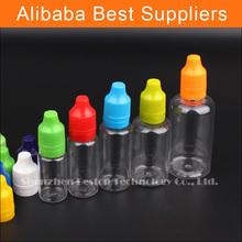 PET Eye Dropper Bottle Making Machine with The Childproof Cap 30ml 50ml Plastic Bottles Shrink Wrap For e-liquid