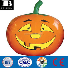 Factory custom made Halloween decoration inflatable artificial plastic pumpkin for sale