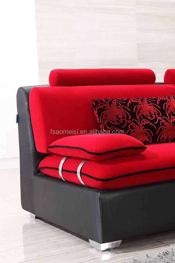 vendita calda moderno grande bianco l forma tessuto divano ad ... - L Forma Divano In Tessuto Moderno Angolo