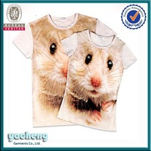 china supplier wholesale 3d t shirt own facotory custom lion sublimation wholesale t shirts fashion hot sell t shirt for couple