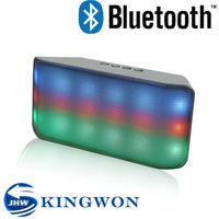 Kingwon 2015 new flashed light portable wireless bluetooth ball shaped mini usb speaker